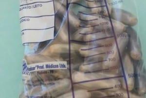 Parte das cápsulas já foram expelidas (Foto: Sidney Fernandes/Difusora Assis)