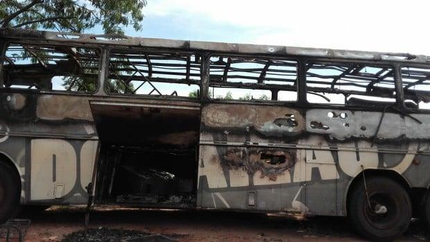 Banda tem ônibus e equipamentos destruídos; prejuízo de R$ 150 mil (Foto: Divulgação)