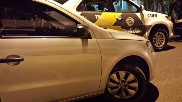 Veículo foi roubado em Santo Amaro, SP (Foto: Divulgação/Polícia Rodoviária)