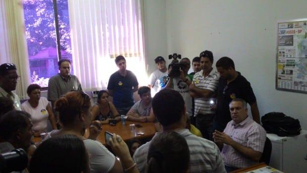 Reunião com Alexsander Seródio,Secretário da Fazenda de Assis (Foto: Marcos Diniz)
