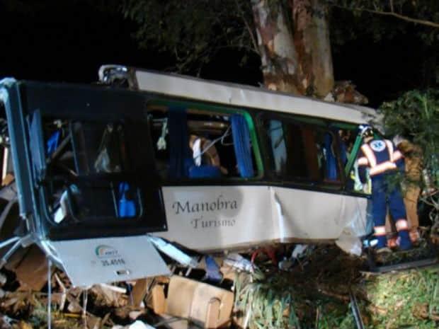Ônibus seguia de Dracena, no interior de São Paulo, para o Paraguai (Foto: José Marcelo Chagas/Cidade Destaque)