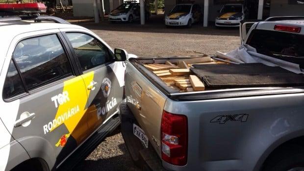 Droga apreendida em Assis seria distribuída em Pirituba (SP) (Foto: Polícia Militar Rodoviária/Divulgação)