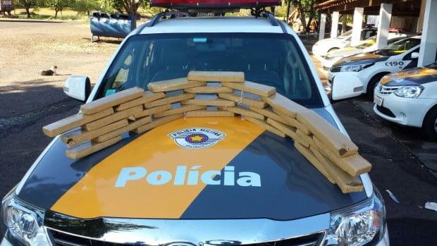 Maconha apreendida em Assis (Foto: Divulgação/ Polícia Militar Rodoviária-TOR)