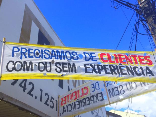 Empresário diz que vendas aumentaram depois que fez o anúncio (Foto: Murillo Velasco/G1)