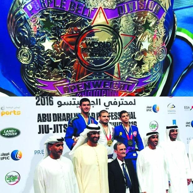 Pedro Henrique Elias conquista título mundial de jiu-jítsu em Abu Dhabi (Foto: Jornal da Comarca de Palmital/Reprodução)