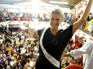 Ana Hickmann, no carnaval de 2011 (Foto: Raul Zito/G1)