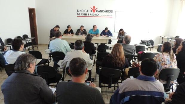 Bancários da região se reúnem para discutir sobre a Campanha Salarial 2016 (Foto: Divulgação)