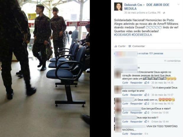 Em Porto Alegre, movimento também mobilizou (Foto: Reprodução/Facebook)