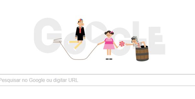 Doodle do Google faz homenagem ao personagem Chaves (Foto: Reprodução)