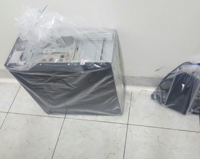 Material foi apreendido durante a operação na região de Assis (Foto: Romeu Neto/ TV TEM)
