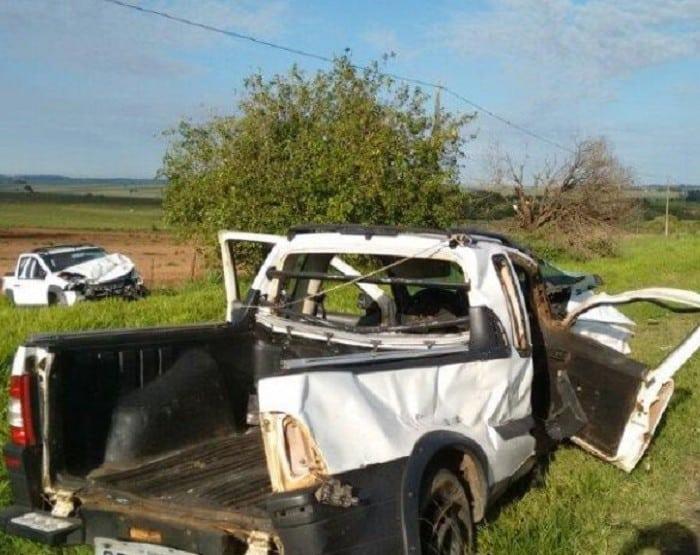 Três pessoas ficaram feridas (Foto: Joãozinho Trentini/Rádio Tupã/Divulgação)