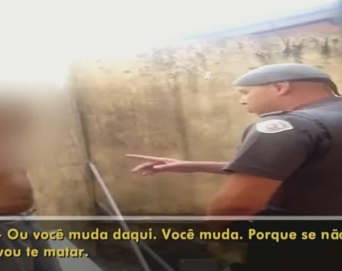 Policial ameaça vizinho após discussão e vítima filma conversa (Foto: Reprodução / TV TEM)