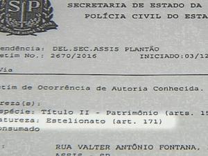 Casos foram registrados como estelionato (Foto: Reprodução/TV TEM)