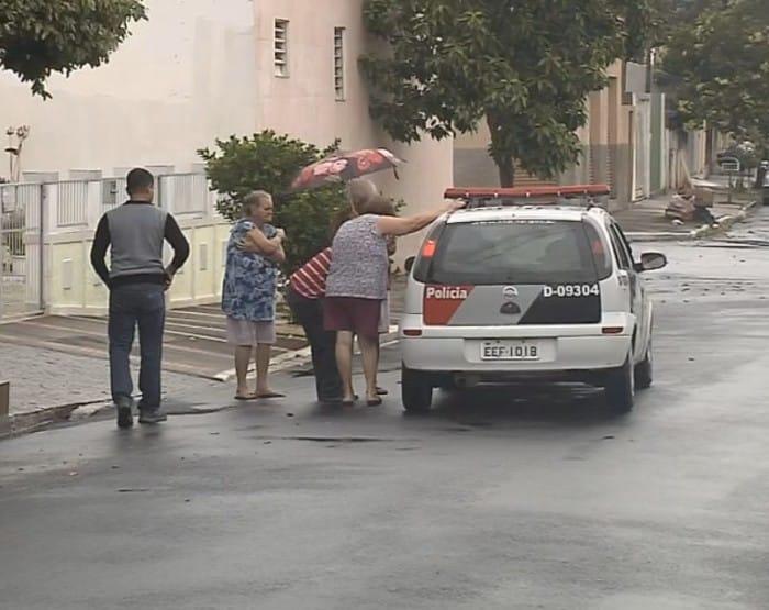 Polícia Militar fez buscas na região e ouviu vizinhos (Foto: Reprodução / TV TEM)
