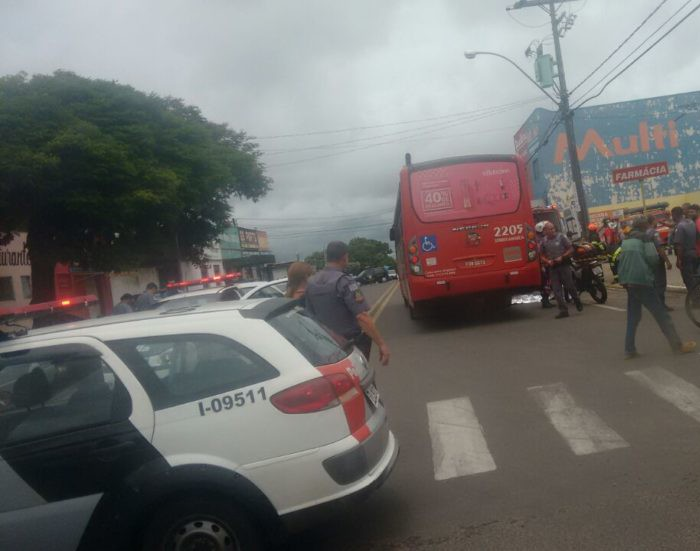 Segundo atropelamento com ônibus foi no bairro Professor Antônio Penteado (Foto: Marília Notícia/Divulgação)
