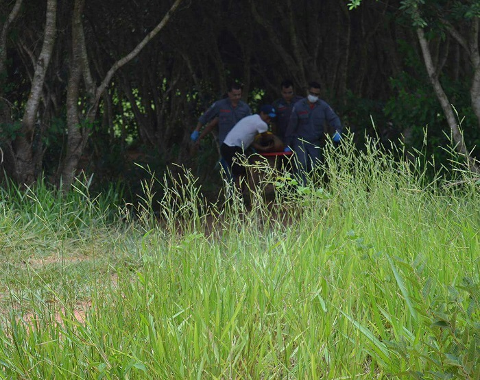 Bombeiros resgataram homem que se afogou em Tupã (Foto: Diego Pereira/Mais Tupã/Divulgação)