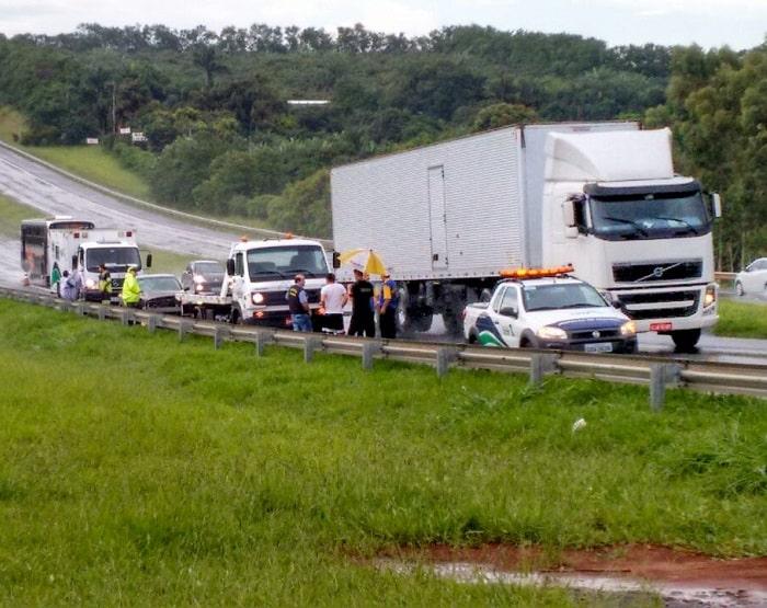 Atropelamento foi na Rodovia Marechal Rondon (Foto: FM Integração/Divulgação)