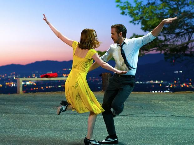 Emma Stone e Ryan Gosling em cena de 'La La Land' (Foto: Divulgação)