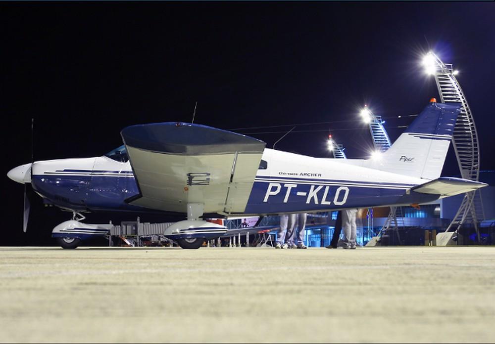 Avião que caiu com Gabriel Diniz — Foto: Reprodução