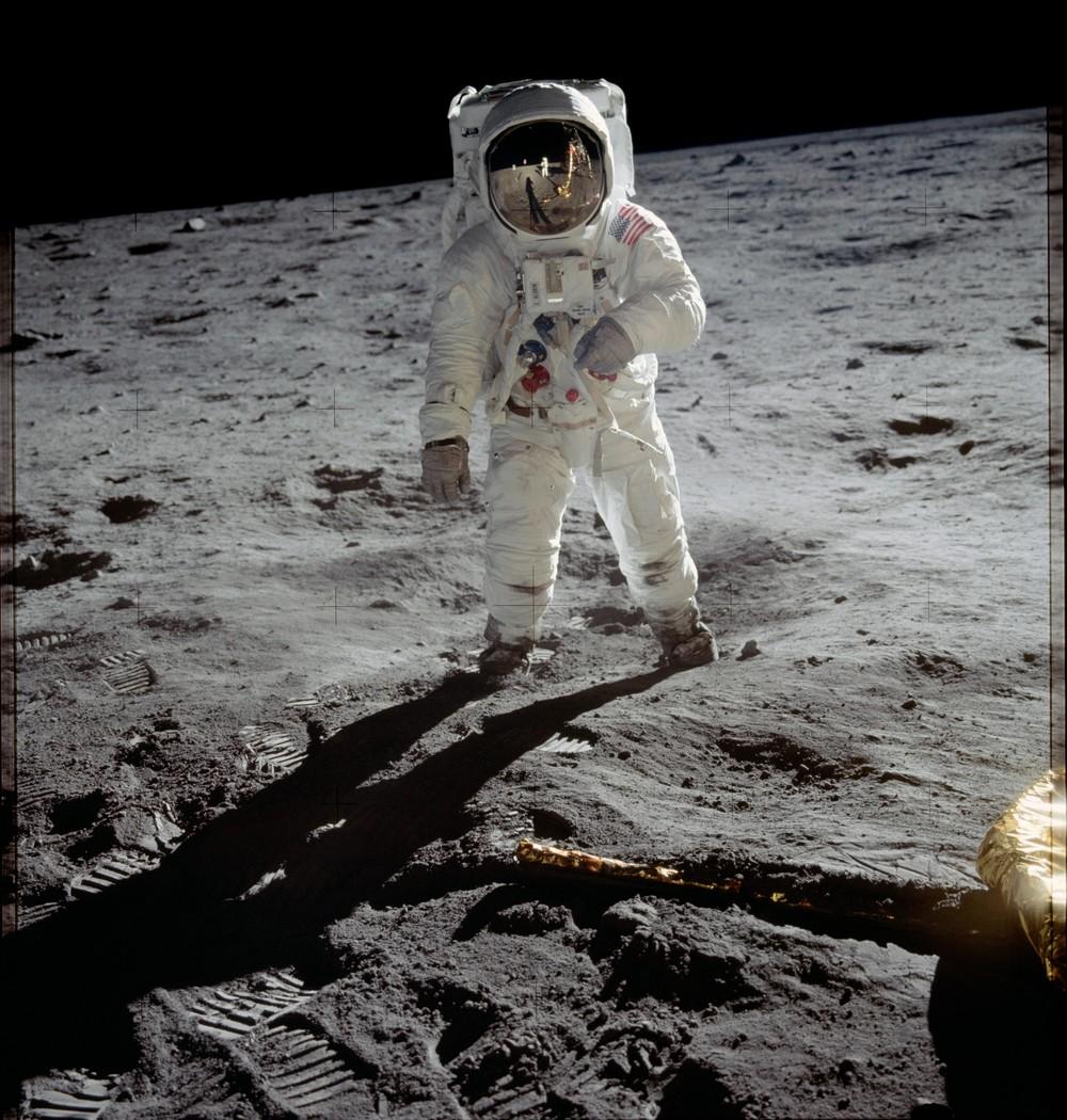 Buzz Aldrin na Lua em 1969 — Foto: Nasa/Divulgação