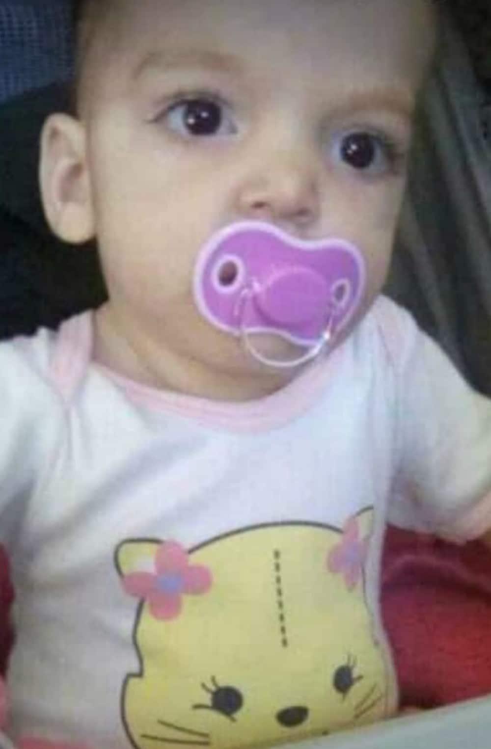 Sophia tinha pouco mais de um ano — Foto: Reprodução/Facebook